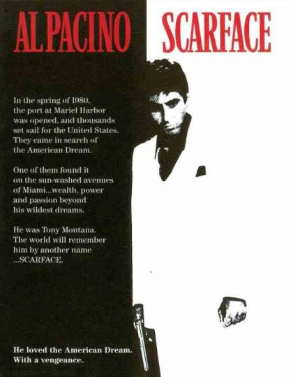 a story of tony montana in the film scarface a crime drama by brian de palma Shop scarface triple play (blu-ray + dvd + digital copy with blu-ray  from  acclaimed director brian depalma, scarface is the rags-to-riches story of tony  montana  a great film, al pacino played a fantastic role as the ruthless tony  montana,  introduction - i once owned the single disc to this immortal 80's crime  drama,.