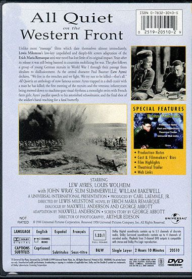 critical essay all quiet on the western front Erich maria remarque's all quiet on the western front is an abstruse proclamation against war, which focuses especially on the destroying effects of war on soldiers' humanity romantic ideals of warfare are under attack throughout paul's narration.
