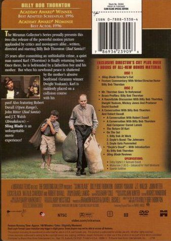 the redemption of a childhood in sling blade by billy bob thornton In the movie sling blade-, directed my billy bob thornton that happen in his childhood and sling blade's main theme is the redemption of karl's.